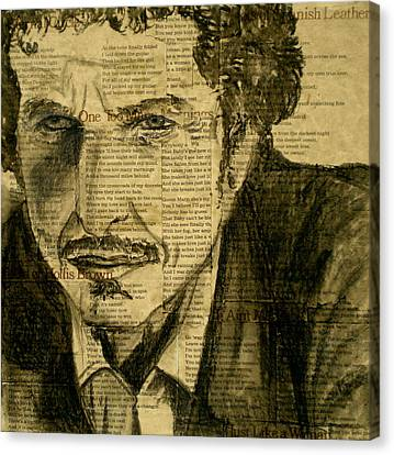 Dylan The Poet Canvas Print by Debi Starr