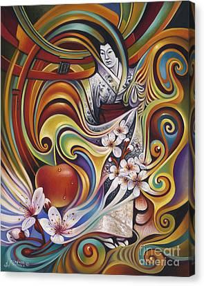 Dynamic Blossoms Canvas Print by Ricardo Chavez-Mendez