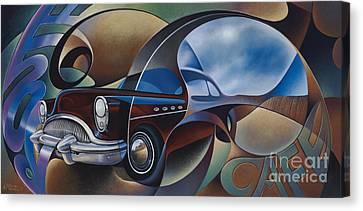 Dynamic Route 66 Canvas Print by Ricardo Chavez-Mendez