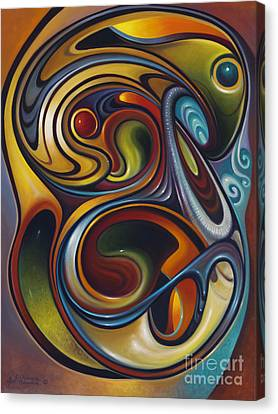 Dynamic Series #15 Canvas Print by Ricardo Chavez-Mendez