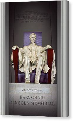 Ea-z-chair Lincoln Memorial 2 Canvas Print by Mike McGlothlen