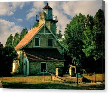 Eagle Bluff Light 2.0 Canvas Print by Michelle Calkins