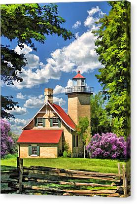 Eagle Bluff Lighthouse Canvas Print by Christopher Arndt