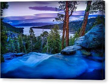 Eagle Falls At Dusk Over Emerald Bay  Canvas Print by Scott McGuire