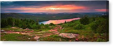 Eagle Lake Sunset  Canvas Print by Emmanuel Panagiotakis