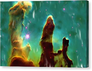 Eagle Nebula 2 Canvas Print by Ayse Deniz