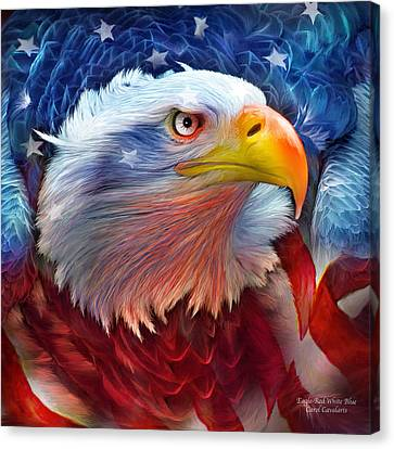 Eagle Red White Blue Canvas Print by Carol Cavalaris