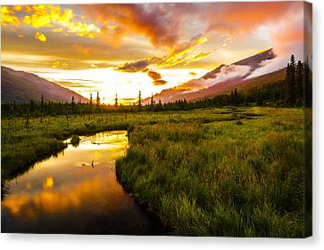 Eagle River Valley Sunset Canvas Print by Kyle Lavey