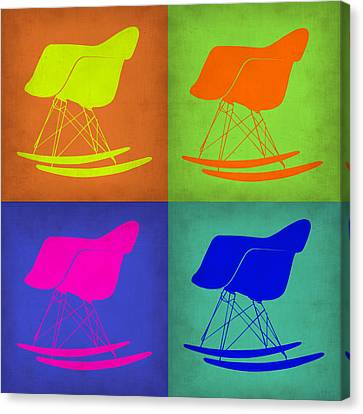 Eames Rocking Chair Pop Art 1 Canvas Print by Naxart Studio