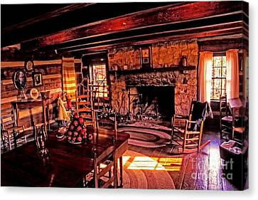 Early American Livingroom Canvas Print by Paul W Faust -  Impressions of Light