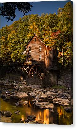 Early Autumn At Glade Creek Grist Mill Canvas Print by Shane Holsclaw