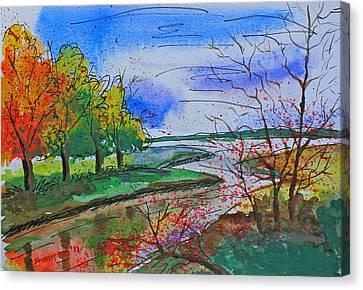 Early Autumn Landscape Canvas Print by Shakhenabat Kasana