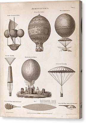 Early Balloon Designs Canvas Print by Middle Temple Library