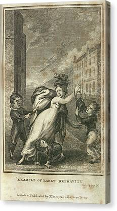 Early Depravity Canvas Print by British Library