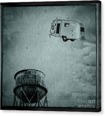 Early Historic Airstream Flight Canvas Print by Edward Fielding