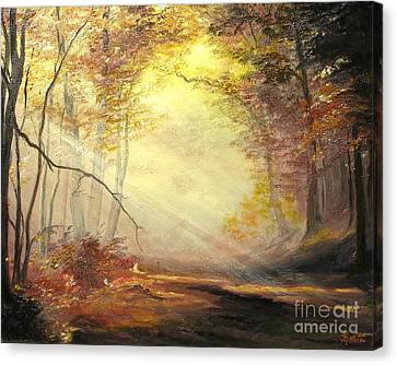 Early In The Morning Canvas Print by Sorin Apostolescu
