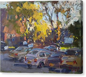 Early Morning Fall Canvas Print by Ylli Haruni