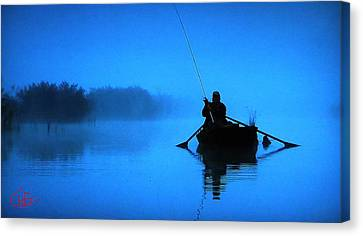 Early Morning Fishing  Canvas Print by Colette V Hera  Guggenheim
