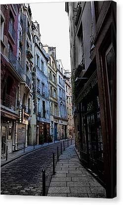 Early Morning In The Latin Quarter Canvas Print by Evie Carrier