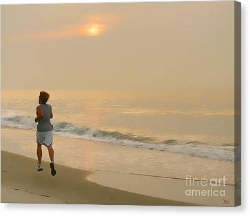 Early Morning Jog Canvas Print by Jeff Breiman