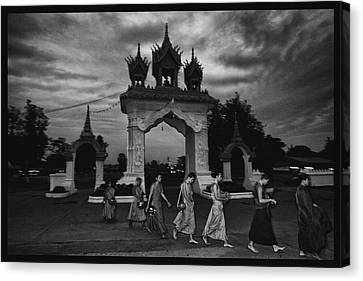 Early Morning Monks Canvas Print by David Longstreath