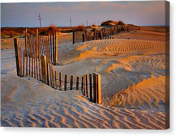 Early Morning On The Dunes I Canvas Print by Steven Ainsworth