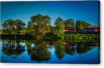 Early Morning Rest Stop Canvas Print by Randy Scherkenbach