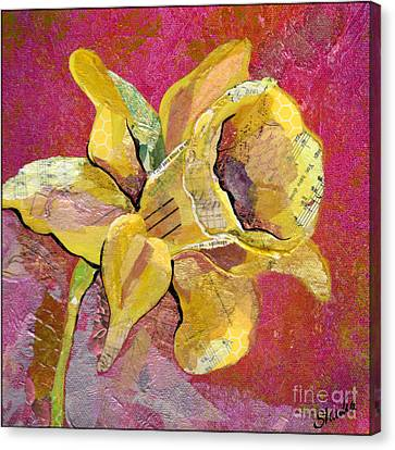 Early Spring I Daffodil Series Canvas Print by Shadia Zayed