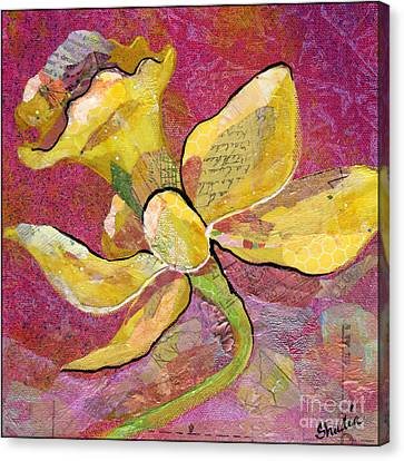 Early Spring Iv Daffodil Series Canvas Print by Shadia Zayed