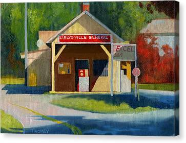Earlysville Virginia Old Service Station Nostalgia Canvas Print by Catherine Twomey