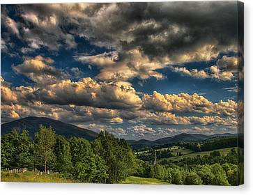 Earth Bending At Mt. Ascutney Canvas Print by Nathan Larson