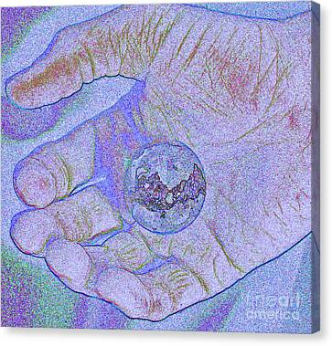 Earth In Hand Canvas Print by First Star Art