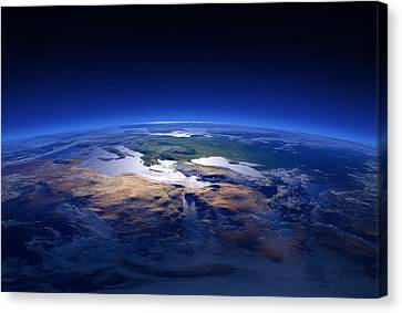 Earth - Mediterranean Countries Canvas Print by Johan Swanepoel
