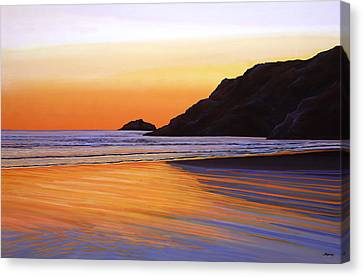 Earth Sunrise Sea Canvas Print by Paul Meijering