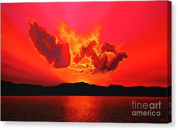 Earth Sunset Canvas Print by Paul Meijering