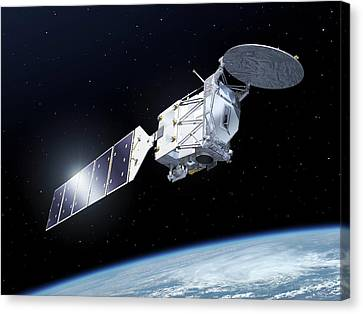 Earthcare Satellite Canvas Print by Esa-p.carril