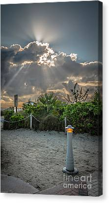 Earthly Light And Heavenly Light - Hdr Style Canvas Print by Ian Monk