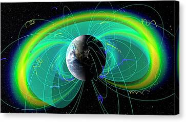Earth's Radiation And Plasma Belts Canvas Print by Nasa/scientific Visualization Studio