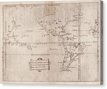 East And West Indies Canvas Print by Library Of Congress, Geography And Map Division