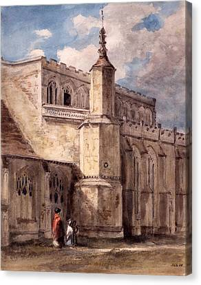 East Bergholt Church, Northside Canvas Print by John Constable