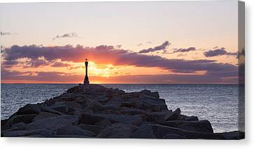East End Cape Cod Canal  Canvas Print by Adam Caron