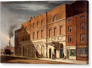 East London Theatre, Formerly The Canvas Print by Daniel Havell