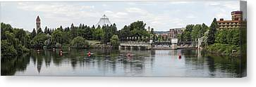East Riverfront Park And Dam - Spokane Washington Canvas Print by Daniel Hagerman