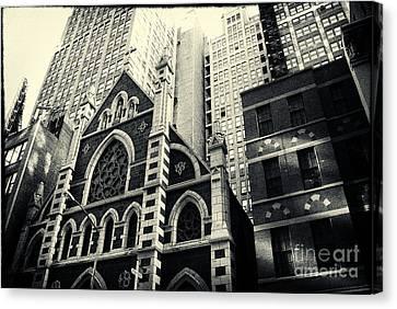 Midtown Faith New York City Canvas Print by Sabine Jacobs