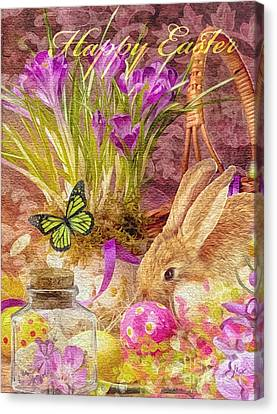 Easter Bunny Canvas Print by Mo T
