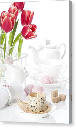 Easter Candle Canvas Print by Amanda Elwell