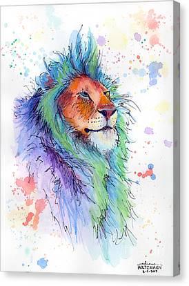 Easter Lion Canvas Print by Arleana Holtzmann