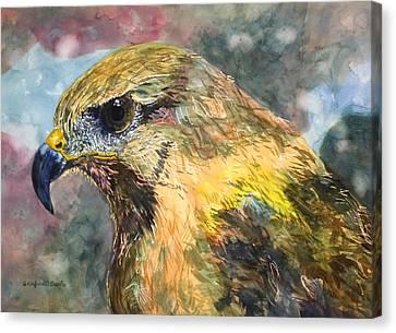 Eastern Clan Of The Hawk Canvas Print by Susan Cafarelli Burke