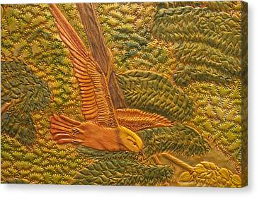 Eastern Meadowlark Canvas Print by James McGarry Leather Artist