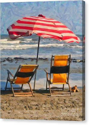 Easy Day Canvas Print by Barbara Rabek